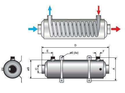 Теплообменник 40 квт гориз pahlen hf 40 Кожухотрубный испаритель Alfa Laval DH1-141 Элиста