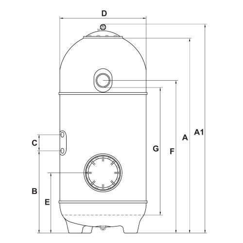 Фильтр San Sebastian SSB 640 (без насоса) KRIPSOL Фильтр San Sebastian SSB 640 (с вентилем) предназначен для механической очистки воды в коммерческих бассейнах объемом до 60 м3. Фильтр изготовлен из ламинированного полиэстера укрепленного стекловолокном, пропитанного резиной. ОПТОВАЯ ЦЕНА (от 2 шт.) - 871 $.
